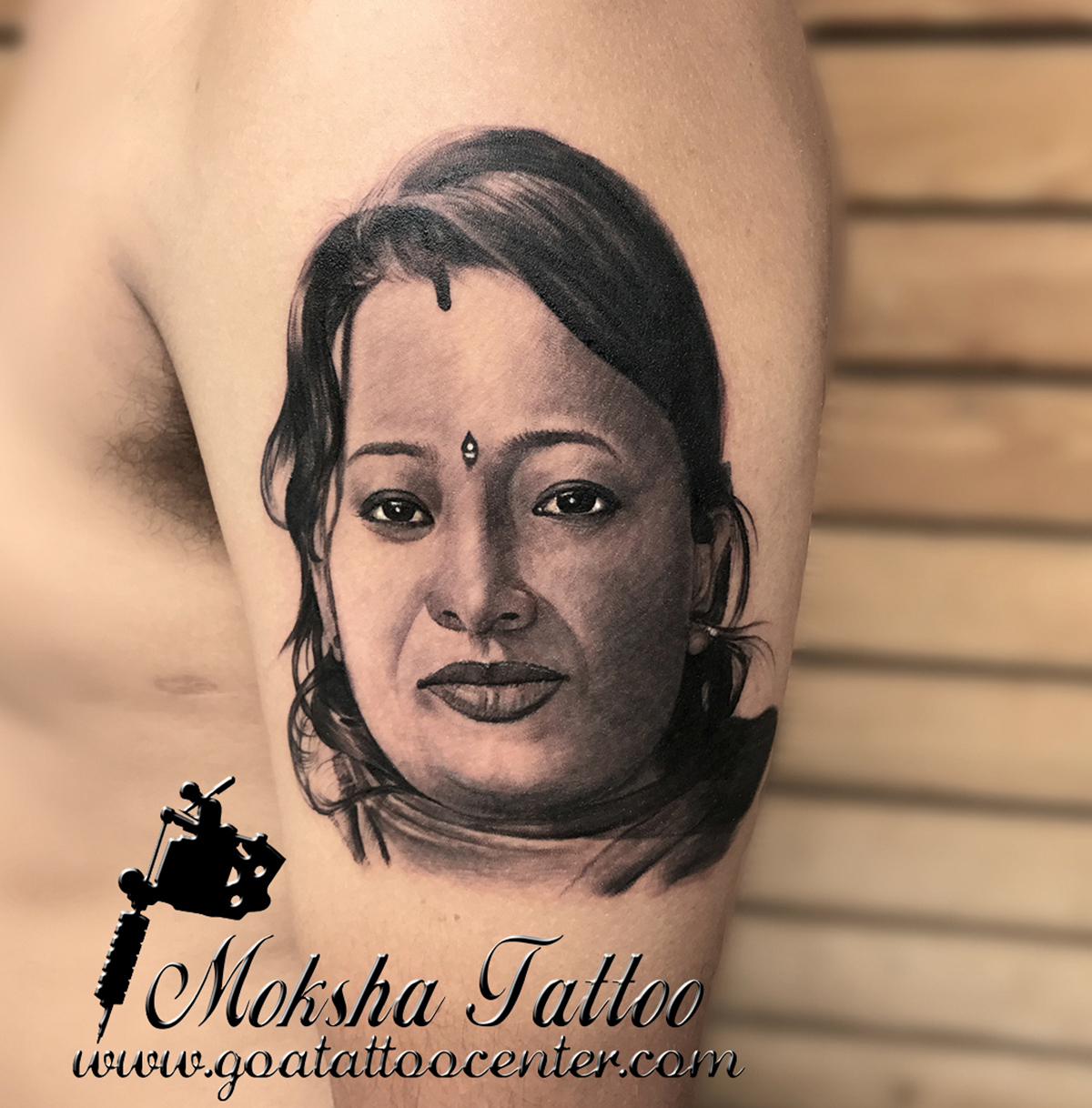 Portrait Tattoo done by Mukesh Waghela at Moksha Tattoo Studio Goa India.