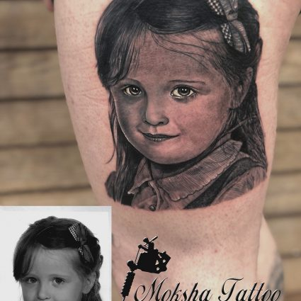 Portrait Tattoo - Done By Mukesh Waghela At Moksha Tattoo Studio Goa India