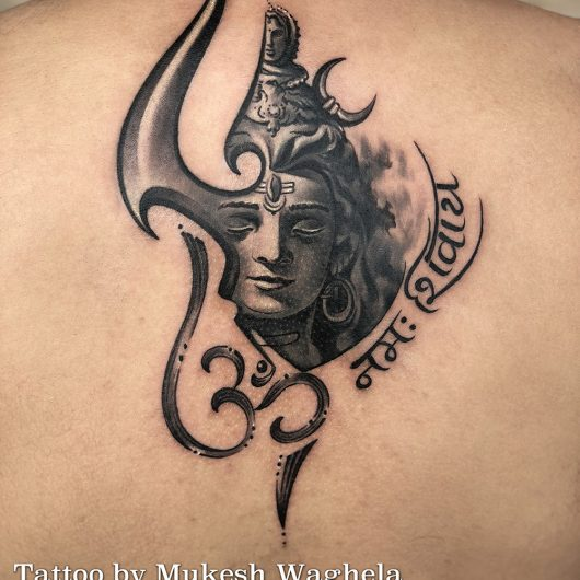 Shiva tattoo done by Mukesh Waghela at Moksha Tattoo Studio Goa India