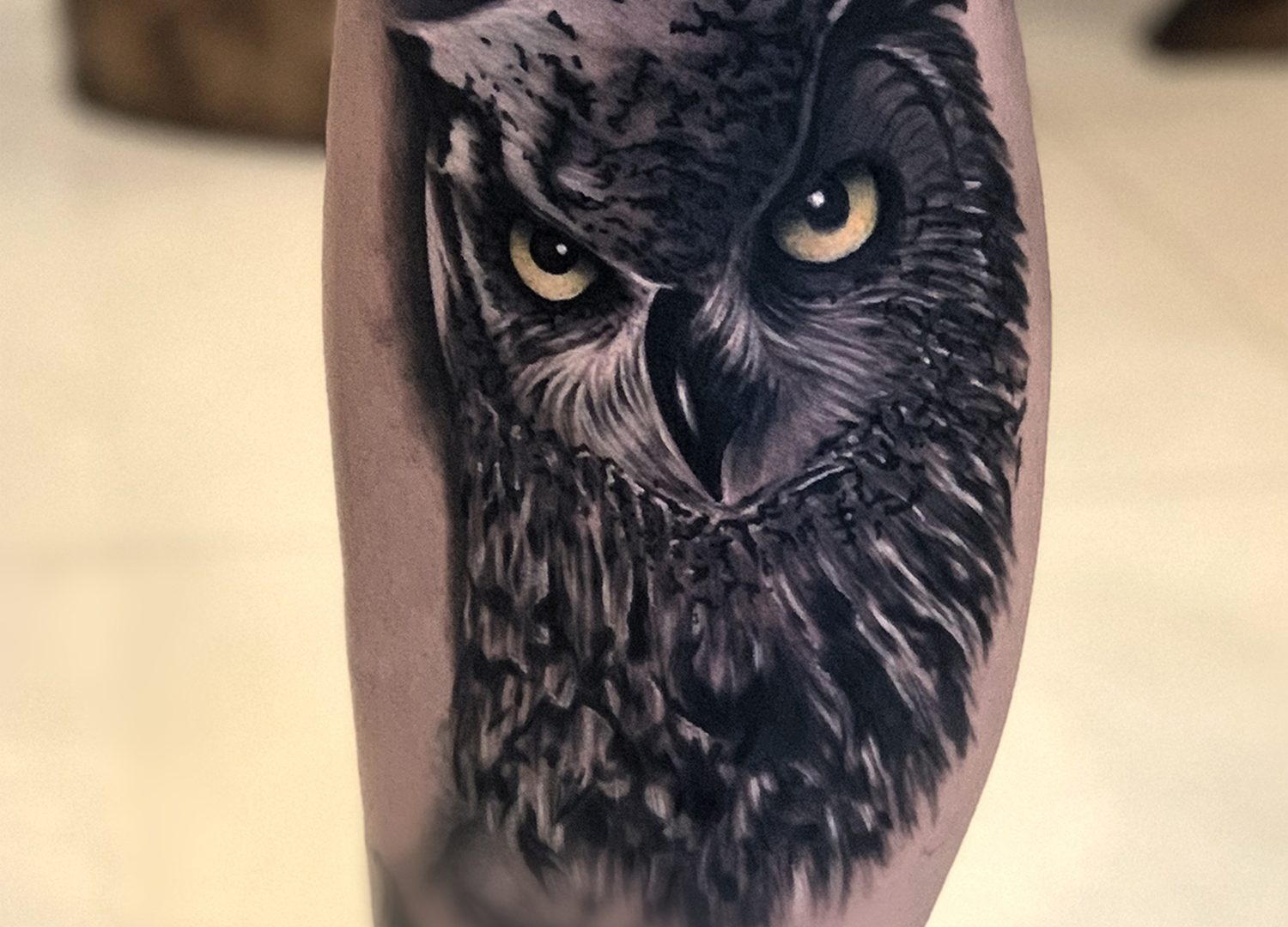Owl Tattoo Done By Mukesh Waghela At Moksha Tattoo Studio Goa India ...