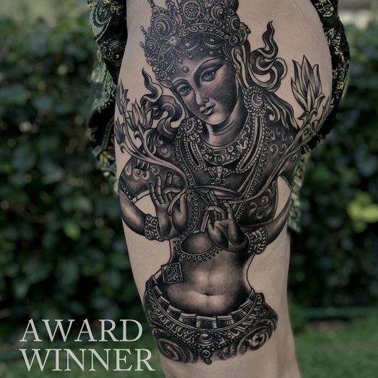 Tara tattoo done by Mukesh Waghela at Goa Tattoo Festival India