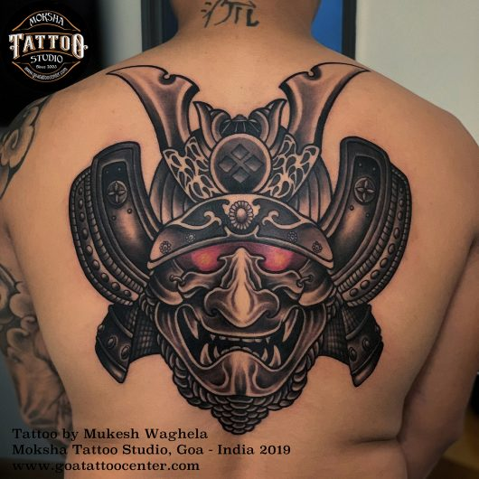 Samurai Tattoo by Mukesh Waghela at Heartwork Tattoo Festival.